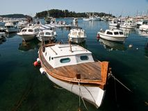 Barcos en el mar Fotos de archivo