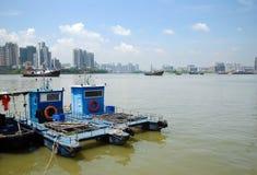 Barcos en el mar Foto de archivo libre de regalías