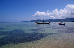 Barcos en el mar Fotografía de archivo libre de regalías