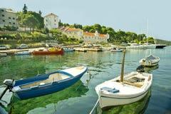 Barcos en el mar adriático Fotografía de archivo libre de regalías