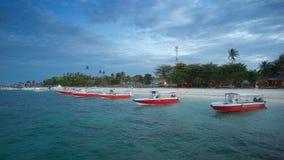 Barcos en el mar de la isla de Semporna, Sabah Imágenes de archivo libres de regalías