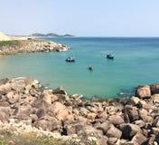 Barcos en el mar en Vietnam Imagen de archivo