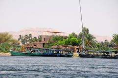 Barcos en el Nilo Imagen de archivo libre de regalías
