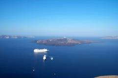 Barcos en el océano Imagen de archivo