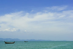 Barcos en el océano Foto de archivo