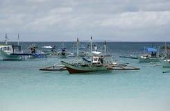 Barcos en el océano Fotografía de archivo libre de regalías