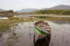 Barcos en el parque nacional de killarney Imagenes de archivo