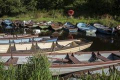 Barcos en el parque nacional de Killarney, condado Kerry Imágenes de archivo libres de regalías