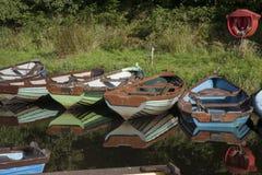 Barcos en el parque nacional de Killarney, condado Kerry Imagen de archivo