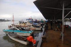 Barcos del transporte en el puerto Foto de archivo libre de regalías