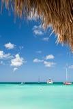 Barcos en el puerto de Aruba Fotos de archivo libres de regalías