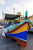 Barcos en el puerto de Marsaxlokk Fotos de archivo