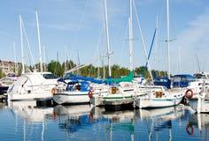 Barcos en el puerto de Thornbury Imagen de archivo