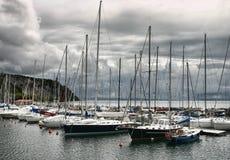 Barcos en el puerto de Trieste Foto de archivo libre de regalías