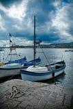 Barcos en el puerto de Tsarevo, Bulgaria Fotografía de archivo libre de regalías