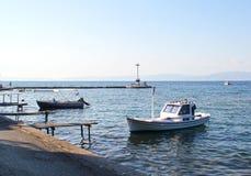 Barcos en el puerto Limenas - Thassos Grecia 6 Imagen de archivo libre de regalías