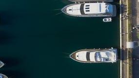 Barcos en el puerto, visión de arriba Fotos de archivo