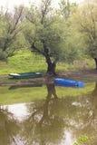 Barcos en el río Imagenes de archivo