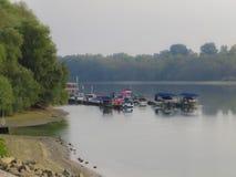 Barcos en el río Danubio Imagen de archivo