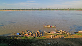 Barcos en el río de Mekong fotos de archivo libres de regalías