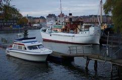 Barcos en Estocolmo Imágenes de archivo libres de regalías