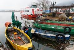 Barcos en Grecia Foto de archivo libre de regalías