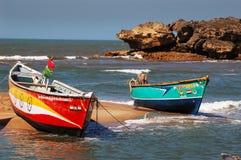 Barcos en Gujarat foto de archivo