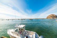 Barcos en la bahía de Morro Imagen de archivo libre de regalías