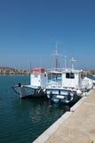 Barcos en la isla de Paros fotos de archivo libres de regalías