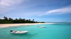 Barcos en laguna Fotografía de archivo libre de regalías
