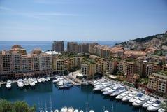 Barcos en Mónaco foto de archivo