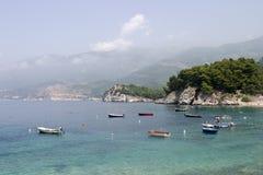 Barcos en Montenegro Foto de archivo libre de regalías