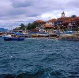 Barcos en Nesebar, Bulgaria Imagen de archivo