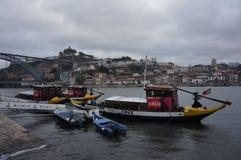 Barcos en Oporto Imagen de archivo