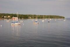 Barcos en puerto fotografía de archivo