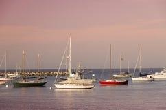 Barcos en puerto Fotos de archivo libres de regalías