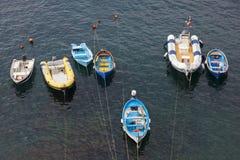 Barcos en Riomaggiore, La Spezia Fotografía de archivo libre de regalías
