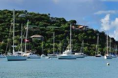 Barcos en San Juan, los E.E.U.U. Islas Vírgenes fotografía de archivo libre de regalías