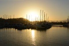 Barcos en Santa Barbara, California Foto de archivo libre de regalías