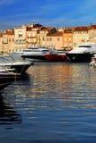 Barcos en St.Tropez Fotos de archivo libres de regalías