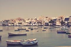 Barcos en Tenerife Fotos de archivo libres de regalías
