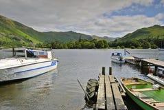 Barcos en Ullswater Foto de archivo libre de regalías