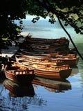 Barcos en un lago Imagen de archivo libre de regalías