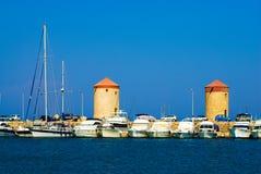 Barcos en un puerto Fotografía de archivo libre de regalías