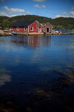 Barcos en un puerto, Noruega Foto de archivo libre de regalías