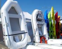 Barcos en una fila Imagenes de archivo