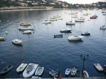 Barcos en villefranche Foto de archivo