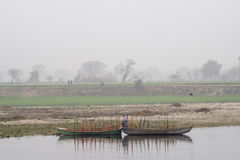 Barcos en Yamuna Imagen de archivo