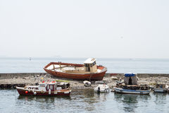 Barcos encalhados Foto de Stock Royalty Free