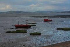 Barcos encalhados Fotos de Stock Royalty Free